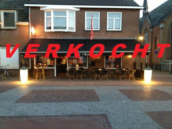 VERKOCHT Café met terras en bovenwoning